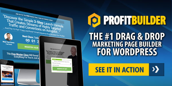 PB 600x300new - WP Profit Builder 2.0 Review - Landing Page Creation Never Been Easily