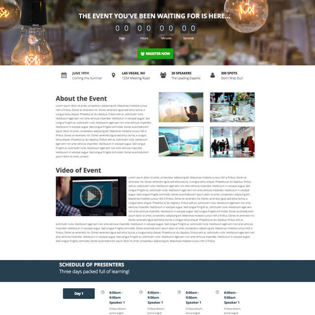 Corporate-Event-Homepage