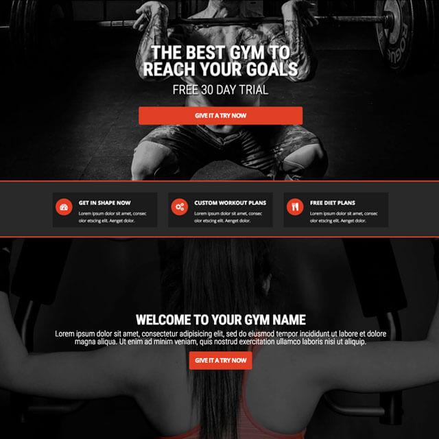 Gym-Landing-Homepage
